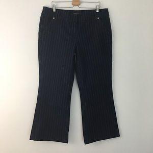 New York & Company Trouser Pin Stripe Denim